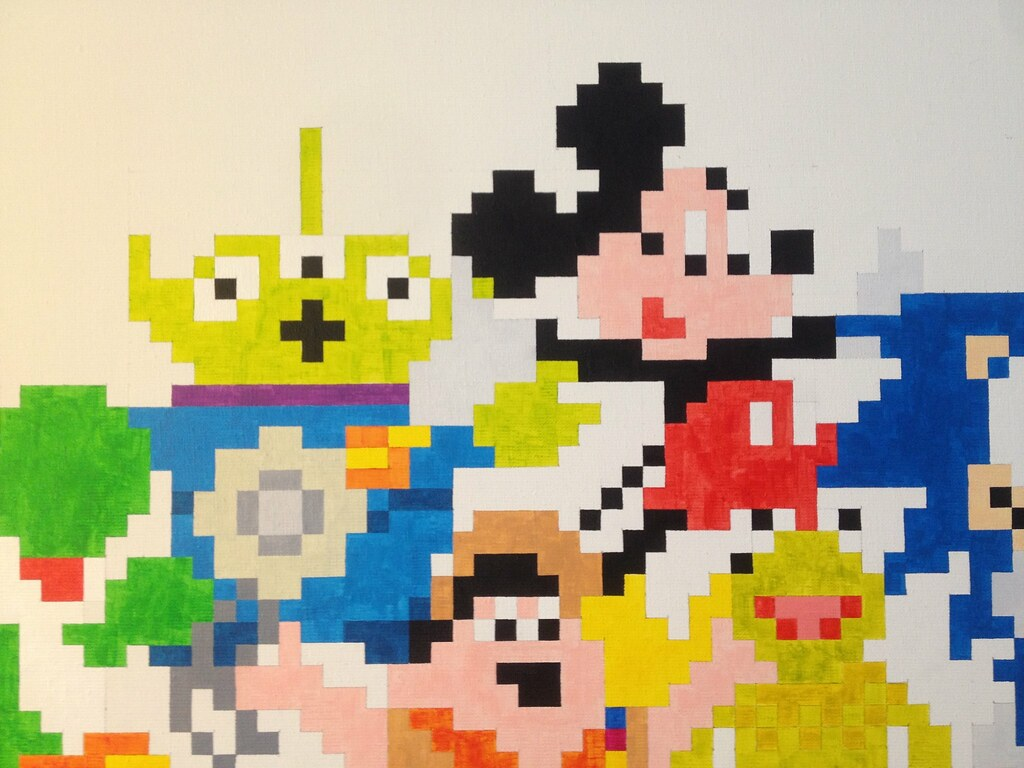 Mickey Mouse Pixel Art pixel heroes: squeeze toy alien & mickey mouse | one of the