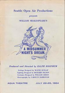 Aqua Theatre program, 1964