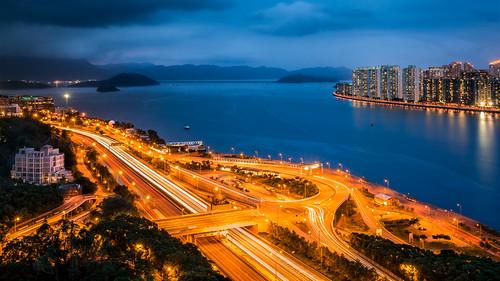 china sea sky colour boats hongkong lights asia harbour sony tolo lightstream nex6 e1018f4 nex6hongkong