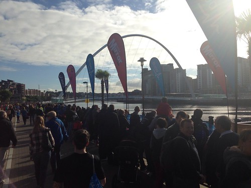 Crowds on Newcastle Quayside at Great North Run weekend | by Glen Bowman