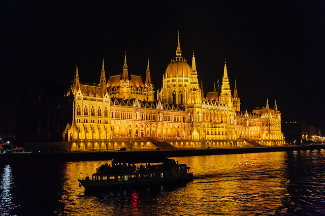 Budapest Parliament at Night