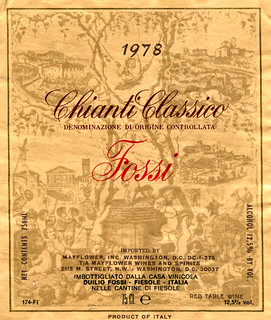 Italy - Fossi Chianto Classico 1978