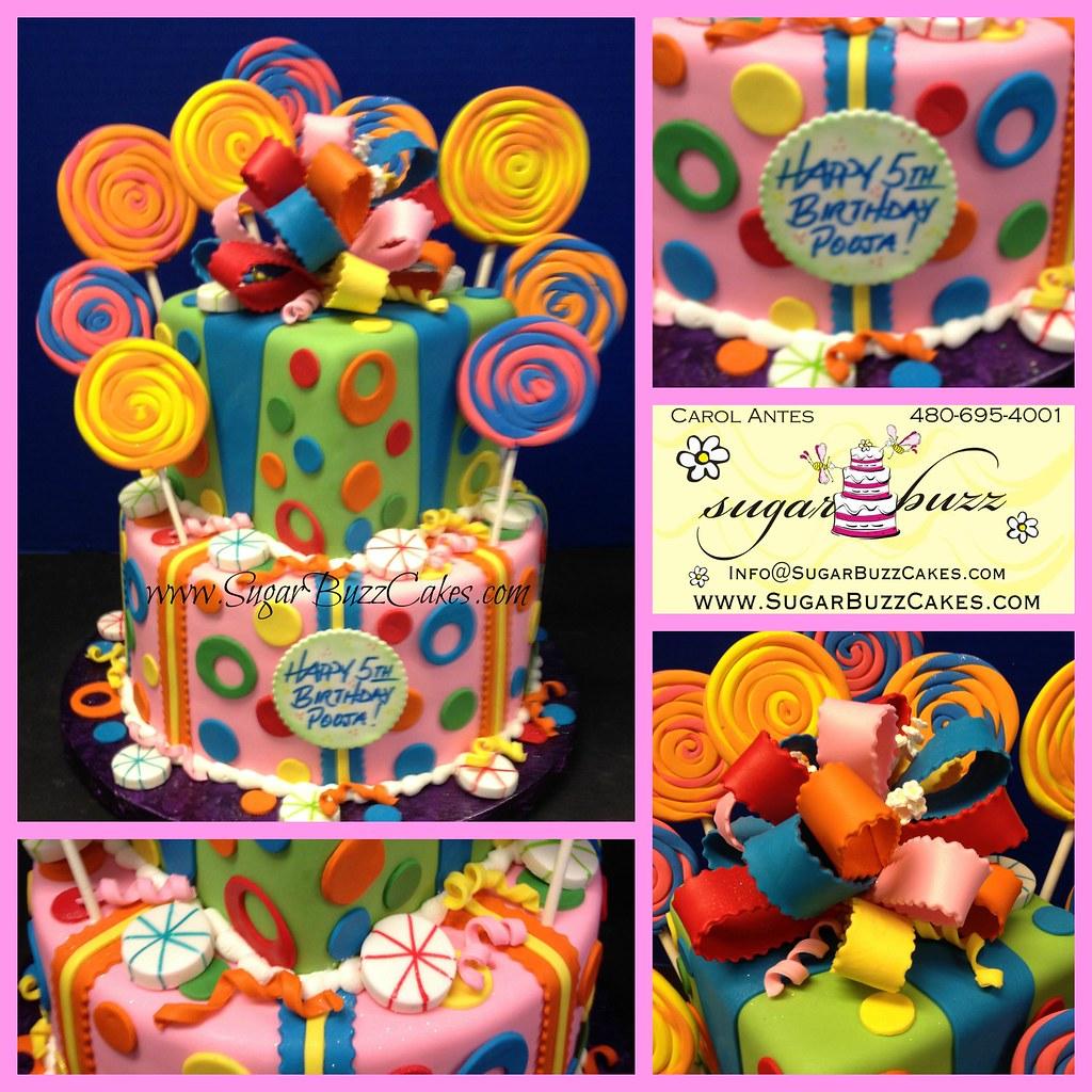 Pleasant Candyland Birthday Cake Carol Flickr Birthday Cards Printable Opercafe Filternl