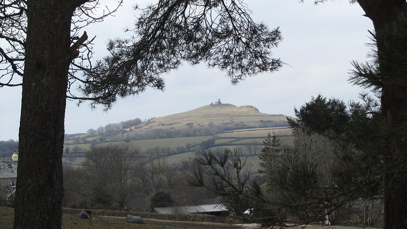 Brent Tor through the trees