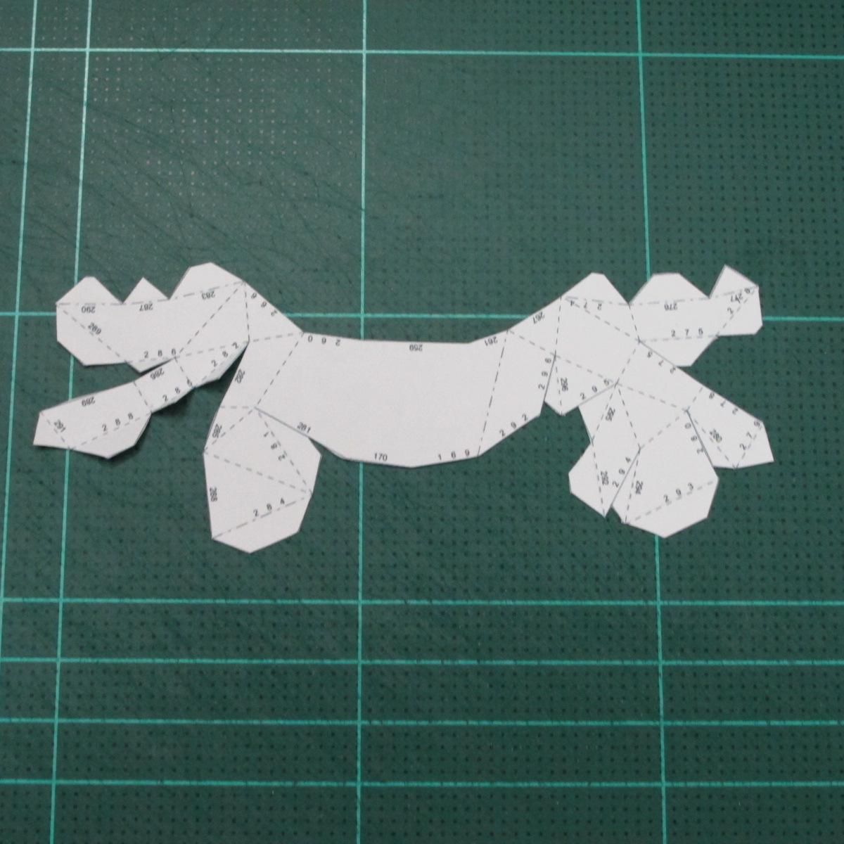วิธีทำโมเดลกระดาษตุ้กตาคุกกี้รัน คุกกี้รสสตอเบอรี่ (LINE Cookie Run Strawberry Cookie Papercraft Model) 018