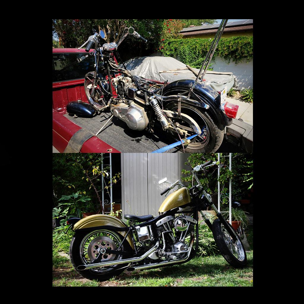 Before & After   A 1977 Harley Davidson FXE shovelhead I pic…   Flickr