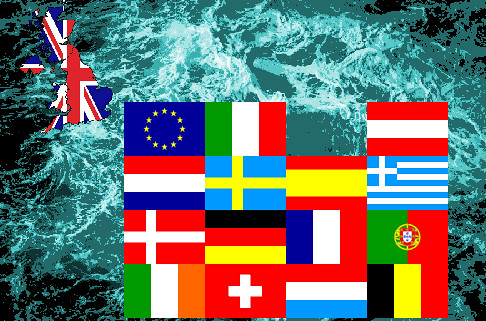 New Map of Europe after Brexit. UK now all at sea in stormy waters?   by muffinn