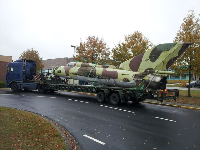 MiG-21SPS 919/22+40 c/n 94A5511 as No.804 ex NVA/GAF. (On lorry) Gilze-Rijen, 07-11-2012.