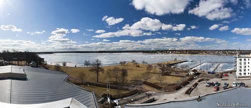 bridge winter sky panorama snow tree ice canon landscape outdoors boat sweden