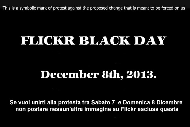 Protesta Flickr Black Day 8 Dicembre 2013