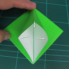 วิธีพับกระดาษเป็นจรวด X-WING สตาร์วอร์ (Origami X-WING) 008