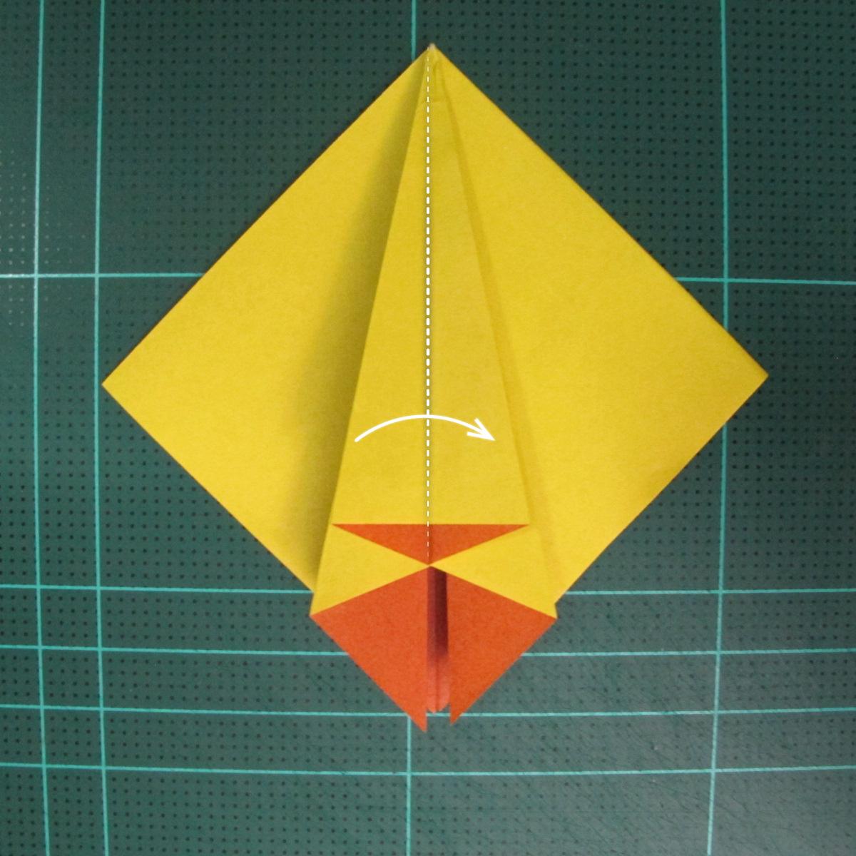 วิธีพับกระดาษเป็นรูปนกยูง (Origami Peacock - ピーコックの折り紙) 014