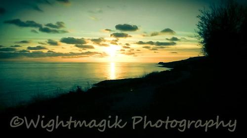 Wintery sunset. iow