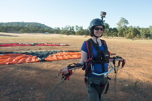 Tara with Paragliding Wing, Ready to Be Towed | by goingslowly