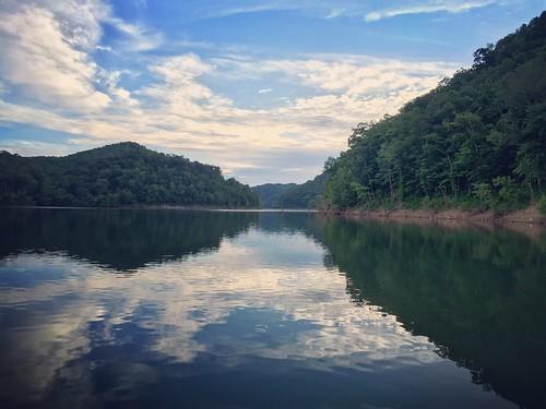 sky lake reflection nature water clouds kentucky ky bangor pickett caverun dbnf
