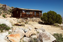 Old Woman Mountains Wilderness, Pinyon Pine Cabin, Front View