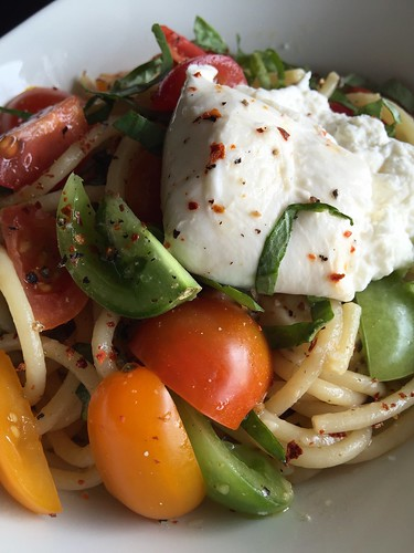 Burrata Caprese Bucatini | by The Culinary Chronicles
