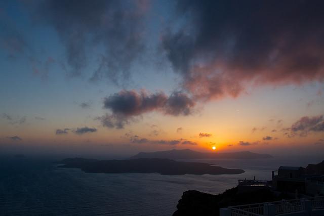 caldera sunset