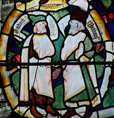 Sadoch and Nathan: Tree of Jesse detail (14th Century)