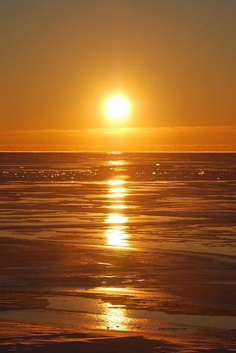lake ice st sunrise frozen clair lakestclair lakestclairsunrise