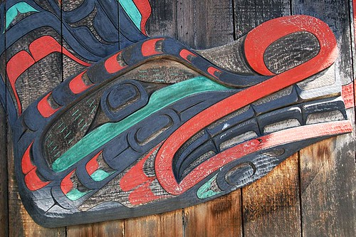 Carving at I-Hos Gallery, Courtenay, Vancouver Island, British Columbia