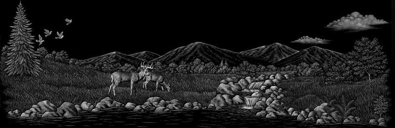 Deer by creek
