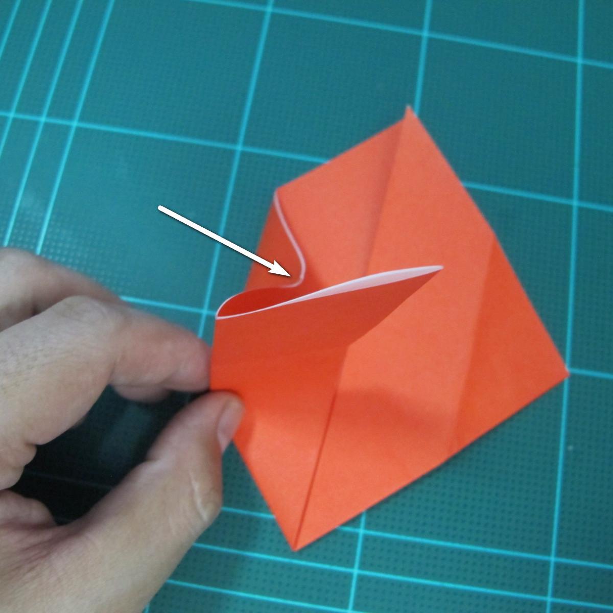 การพับกระดาษเป็นนกพิราบ (Origami pigeon) 00010