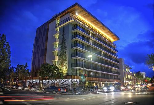 theepiphany hotel twilight dusk blue paloalto california fav50 cloudy night siliconvalley sanfranciscobay