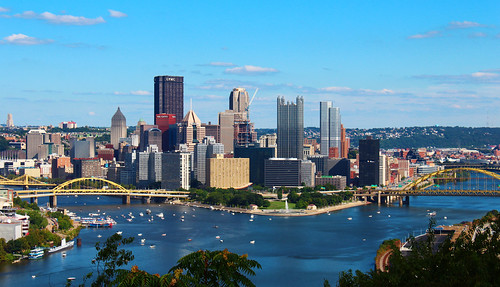 water river downtown pittsburgh pennsylvania ohioriver goldentriangle centralbusinessdistrict alleghenycounty