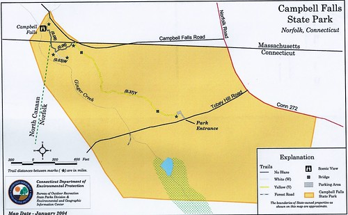 statepark usa outdoors map hike parkmap 2015 connnecticut norwalkct ronpersan campbellfallsparknorfolkct stateparkcampbellfalls