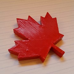 Saying goodbye to a dear friend. Painted print with added magnet to the back. Original model from http://www.thingiverse.com/thing:3461 #3dprinting #3dprinter #morenap3d #ultimaker #pla #canada #airport #travel #canadian #maple #leaf # traveling