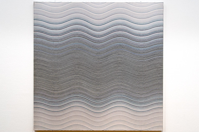 Bridget Riley - Untitled 1 - warm and cold curves, 1965