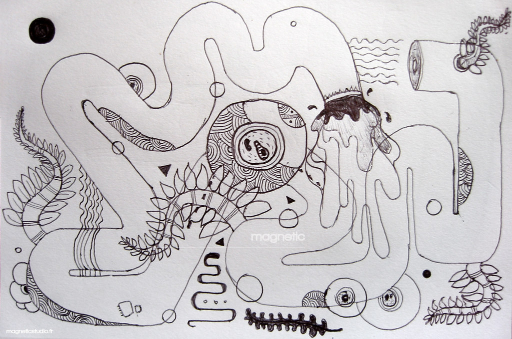Pen Drawing Abstract Drawing Bic Pencil By Magnetic