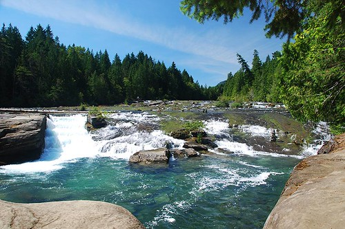 Nymph Falls, Courtenay, Vancouver Island, British Columbia, Canada.