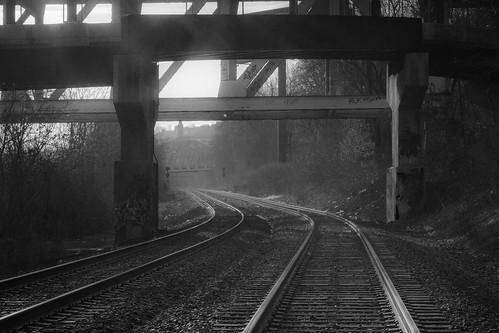 railroad bridge sun sunlight fog architecture train sunrise canon pittsburgh pennsylvania traintracks tracks pa rails allegheny westernpa alleghenycounty 60d pittsburghtrains pittsburghrailroad pittsburghtraintracks