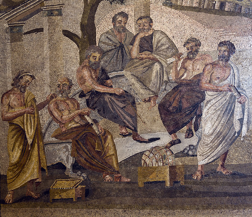 Mosaic of Academy of Plato discovered at Pompeii, Naples National Archaeological Museum | by some guy called Darren