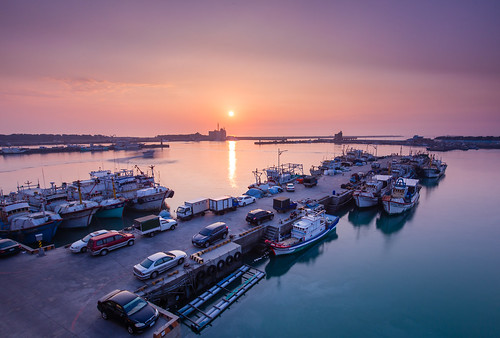 sunset harbor hsinchu 日落 南寮 nd64