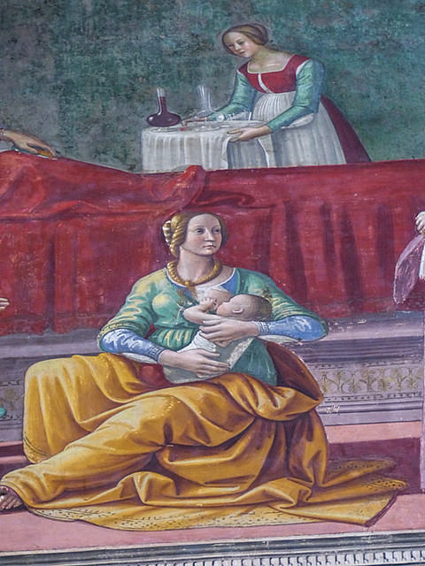 Mon, 09/07/2015 - 14:41 - Birth of John the Baptist - Domenico Ghirlandaio (c1485-1490). Florance 07/09/2015