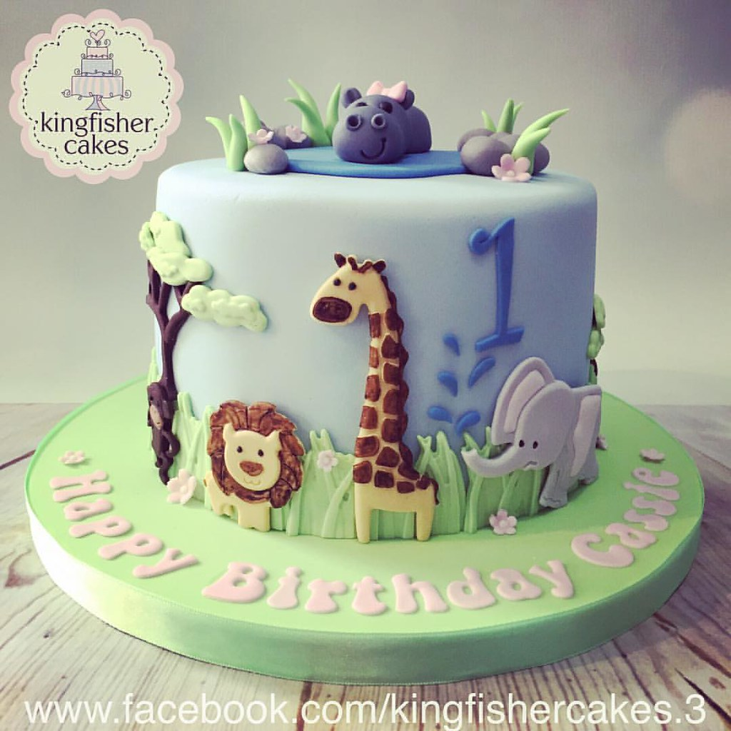 Phenomenal One From Last Month A Cute Little Jungle Zoo Animals Themed 1St Funny Birthday Cards Online Amentibdeldamsfinfo