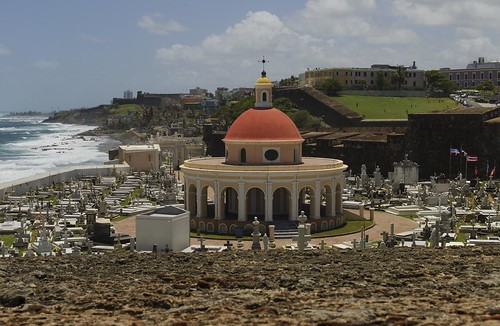 ocean old orange cemetery architecture de puerto site san colorful day waves juan cloudy maria cementerio ground historic atlantic rico explore dome sacred burial caribbean magdalen explored pazzis nrpad