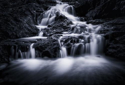 water monochrome canon blackwhite waterfall australia falls 7d queensland goldcoast springbrook hinterland purlingbrook silverefexpro2