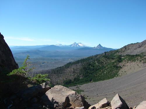 Broken Top, Mt. Bachelor, The Three Sisters, Mt. Washington and The Husband
