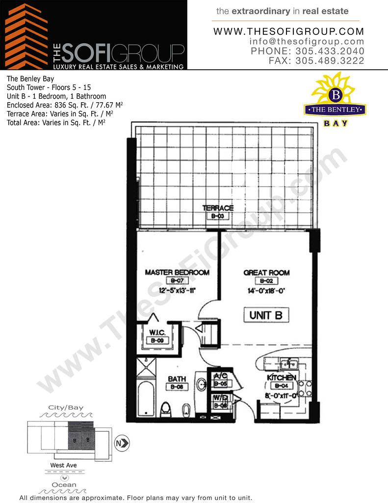 Bentley Bay South Condos Miami Beach Floor Plan Residence Flickr