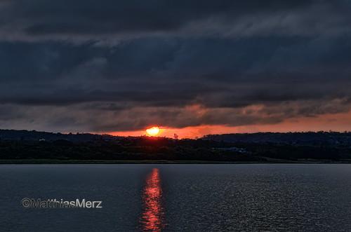 sunset sky cloud sun lake water nikon kenting roctaiwan longluanlake