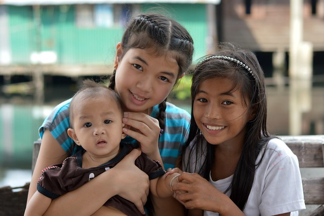 pretty preteen girls with baby