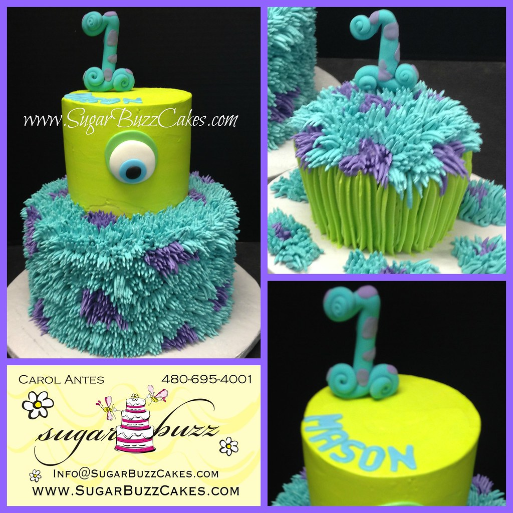 Excellent Monsters Inc Birthday Cake Carol Flickr Funny Birthday Cards Online Unhofree Goldxyz