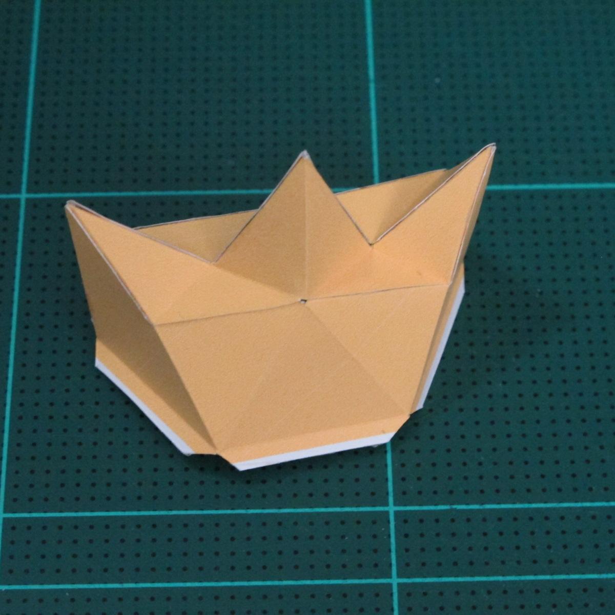 วิธีทำโมเดลกระดาษตุ้กตาสัตว์เลี้ยง หยดทองจากเกมส์ คุกกี้รัน (LINE Cookie Run Gold Drop Papercraft Model - クッキーラン  「黄金ドロップ」 ペーパークラフト) 010