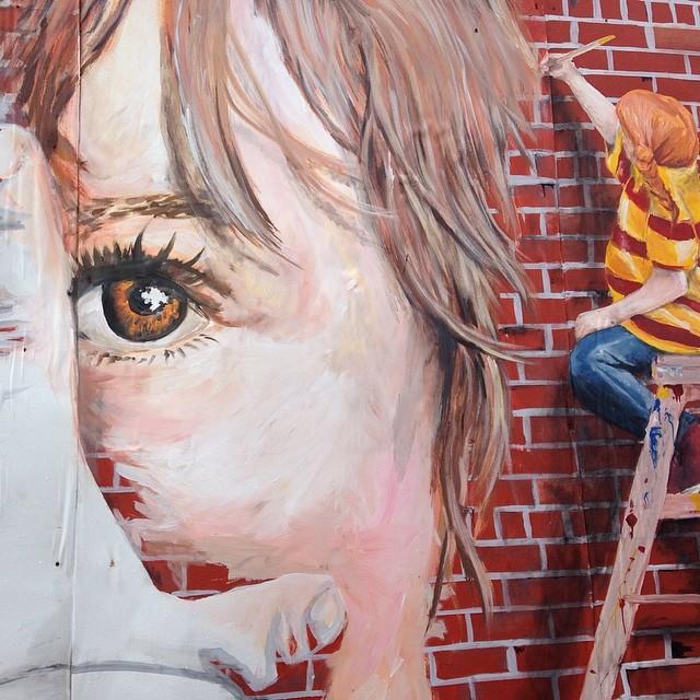 Meta mural painting