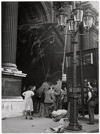 El traslado de la Balsa de la Medusa del Louvre