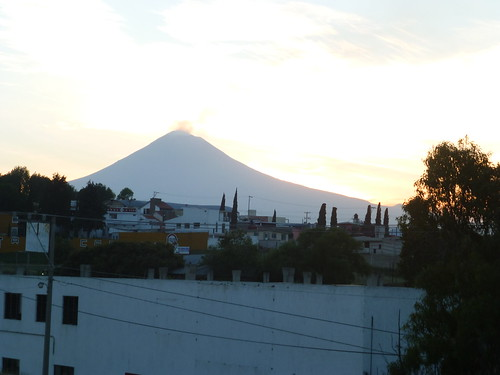 Popocatepetl from the Puebla-Cuautla Highway